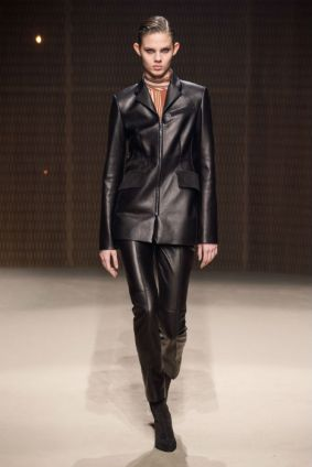 Hermes-ready-to-wear-autumn-fall-2019-leather-look-black-trend-